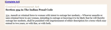 IndianPenalCode_sec354