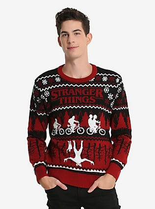 Stranger Things Ugly Holiday Sweater
