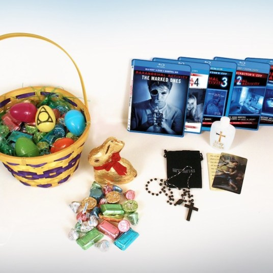 paranormal activity: the marked ones collector's crypt horror movie promotional merchandise easter basket