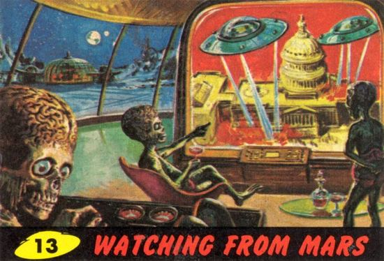 Mars Attacks Watching from Mars