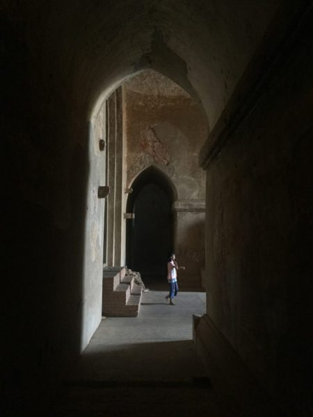 Little boy inside North Guni (Myauk Guni), Bagan, Myanmar (Burma)