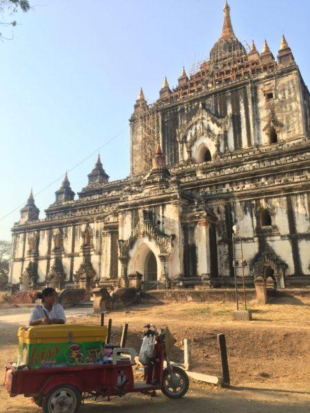 Ice cream hawker, Gawdawpalin Temple, Bagan, Myanmar (Burma)