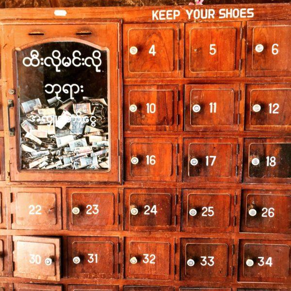 Shoe storage box, Bagan, Myanmar (Burma)