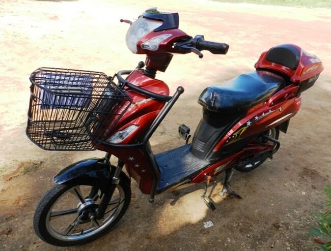 Standard size E-bike, Bagan, Myanmar (Burma)