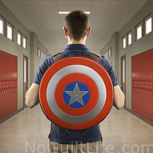 Cap shield backpack