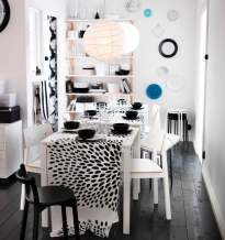 Black-white-dining-room