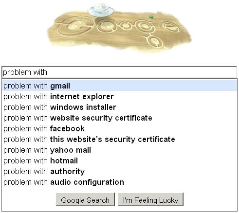 google problem with