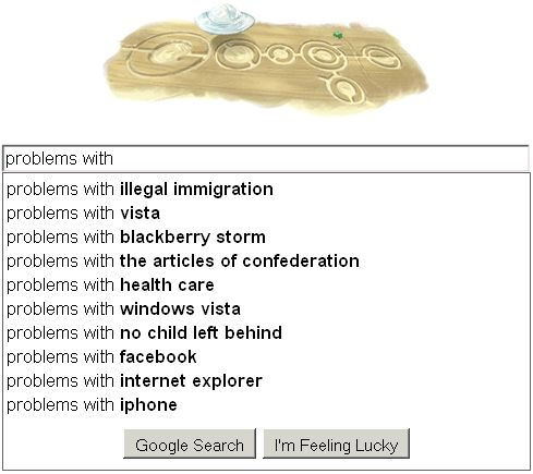 google problems with