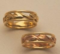 Framed maile rings by Ulana o Kukui