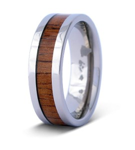 Classic koa ring