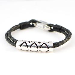 Ho'oko Kapa Barrel Beads with leather