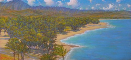 'Kailua Beach from Lanikai' by Russell Lowrey, Giclee Print, custom sizes