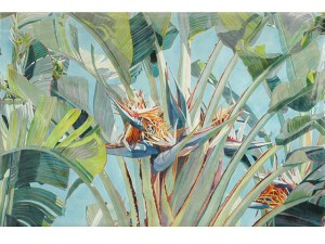 Fabienne Blanc original watercolor, Bluebirds