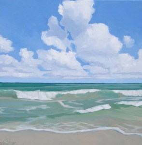 Brenda Cablayan original painting Gazing out to Sea