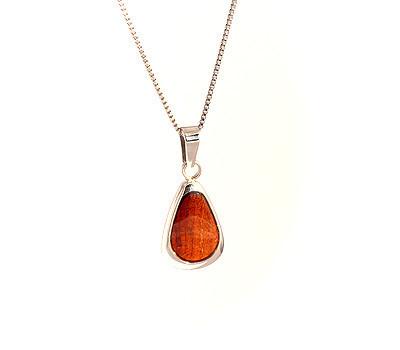 Koa wood drop pendant