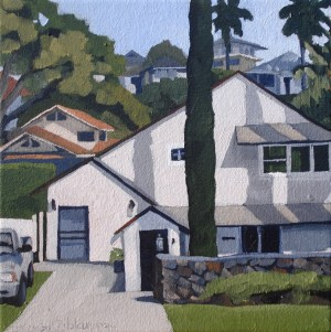 Houses on the Hill 10 x 10 Brenda Cablayan