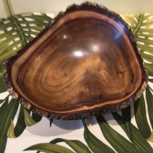 Carl Sherry Koa natural edge bowl 3.75 x 9.25