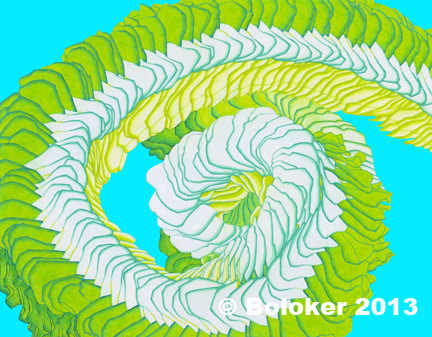 Judd Boloker Hawaiian lei prints Green Cristiana