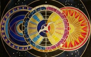Lauren Salm original Celestial Compass Guiding Hokule'a