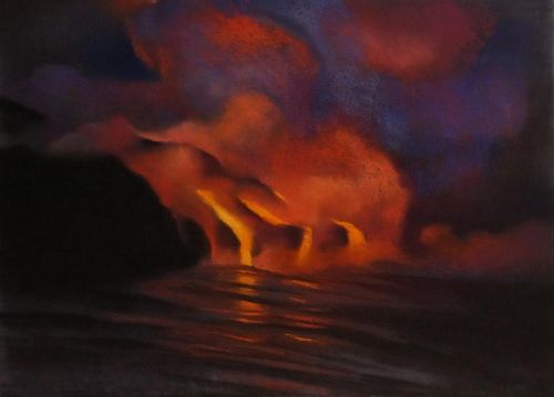 Diana Lehr original oil Ocean Flow 22 x 30