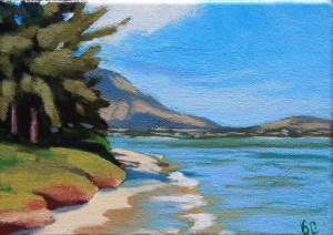 Brenda Cablayan original painting Maunalua Bay #1 5 x 7
