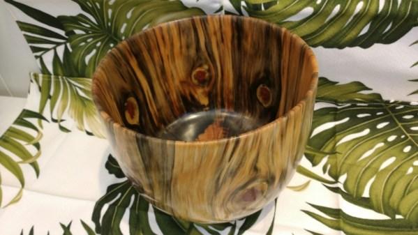 Carl Sherry Norfolk Island Pine bowl 8.5 x 8.5 x 7
