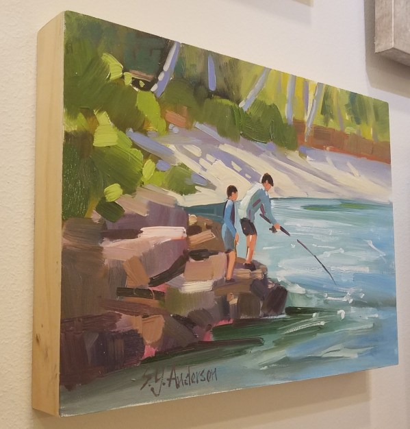 "Fishing Pals by Susie Anderson 9"" x 12"""