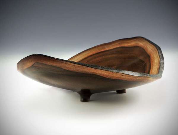 "Sharon Doughtie Milo Natural-edged bowl w/ feet 9.5"" x 6"" x 2.75"""
