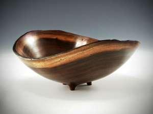 """Sharon Doughtie Milo Natural-edged Bowl w/ feet 7"""" x 6.5"""" x 5"""""""