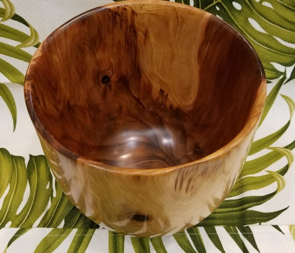 "Carl Sherry Sugi Pine Calabash 7.25"" x 7.25"""