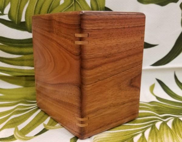 Koa wood urn