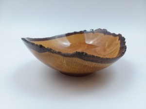 "Craig Mason Macadamia Nut natural edge bowl 2.25"" x 6"""