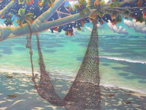 "Beach at Kualoa original by Russell Lowrey 48"" x 72"""