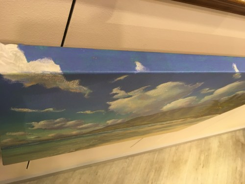 gallery wrapped and painted on the edges by Russell Lowrey