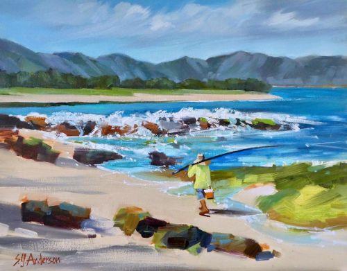 Susie Anderson Shore Patrol 14 x 18 original oil painting
