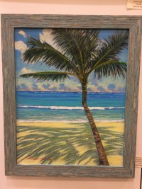 Russell Lowrey Palm Tree and Shade original acrylic 20 x 16