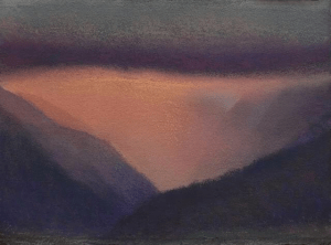 Diana Lehr original painting of Maui valley Pink Mist 11x15 image