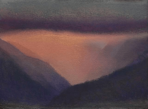 """'Pink Mist' Original Watercolor and Pastel by Diana Lehr 18""""x 22"""" framed $2250"""