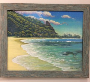 Bali Hai at Haena by Russell Lowrey original painting 16 x 20 framed