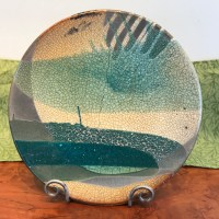 Jeff Chang Raku Wall Platter 14.5 Diameter