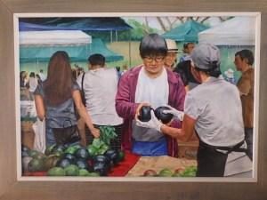 Burton Uhr 'Farmers Market (choosing avocados)'