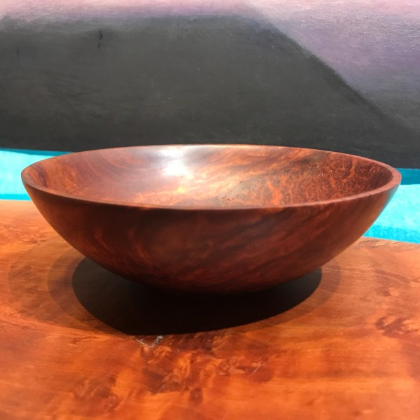 "Gordon Tang Red Mallee Burl Bowl 2""H x 6.5""D"