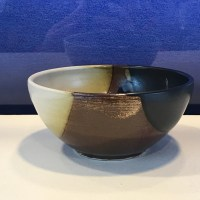 "Jeff Chang Earth Tone Stoneware Bowl 2.5""Hx5.5""D (representative)"