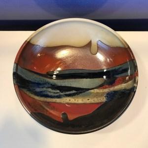 "Jeff Chang Earth Tone Stoneware Bowl 3.75""Hx11""D (representative)"