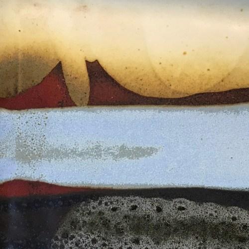 "Jeff Chang Earth Tones Stoneware Plate 12""Lx9""W (representative)"