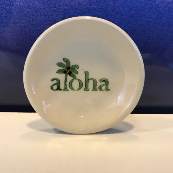 """Lorna Newlin Aloha Dish 3"""" Diameter (representative)"""
