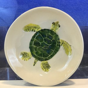 "Lorna Newlin Ceramic Honu Bowl 5""Diameter"
