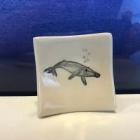 "Lorna Newlin Humpback Whale Dish 2.5""x2.5"" (representative)"