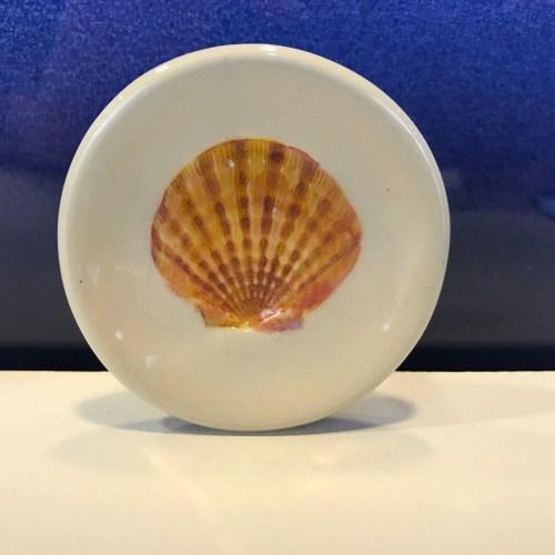 "Lorna Newlin Orange Shell Dish 3"" Diameter (representative)"