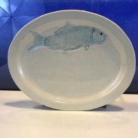 Lorna Newlin Oval Ceramic Fish Platter 12x10